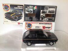 BURAGO N° 0180:  FIAT RITMO GOLD BLACK NEUVE en BOITE 1/24