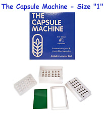 """1"" THE CAPSULE MACHINE Filling Filler POWDER HERBS VITAMINS PILLS MEDICATION"