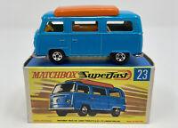 Matchbox Superfast No. 23 Volkswagen Camper in Original Box