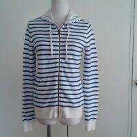 Tommy Hilfiger hoodie Blue Striped Long Sleeve Womens hooded sweater size XS