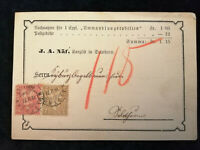 Schweiz - Postkarte Stempel 1877 Solothurn Sitzende Helvetia 2 + 10 C   Nr.25