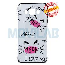 "Funda antigolpes carcasa gel Samsung J710 Galaxy J7 2016 dibujos gato ""Meow"""