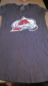NWT MAJESTIC THREADS COLORADO AVALANCHE  NHL S/S LONG T SHIRT WOMENS BLUE LARGE