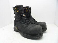 TERRA Men's 8'' Sabre Waterproof Vibram CTCP Work Boots Black Size 9M