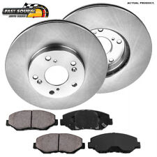 Civic Front eLine Slotted Brake Rotors+Ceramic Pads For 2005-2012 Honda CR-V