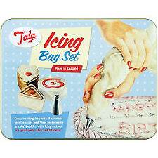 Tala Icing Bag Set in Tin With 8 Nozzles and Book