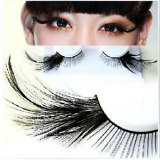 1 Pair Black Feather Stage Exaggerated False Eyelashes Party Masquerade Play