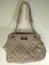NEXT - Shiny Quilted Handbag - Grey / Pink