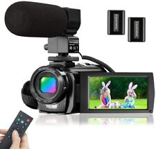 Video Camera Microphone HD 1080P 24MP Digital Vlog YouTube Camcorder 16X Zoom