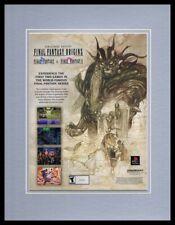 Final Fantasy Origins 2003 Playstation 11x14 Framed ORIGINAL Advertisement
