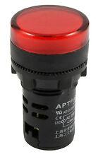 Rouge Pilot lumière LED 22mm Indicateur lampe témoin Panneau de montage 220V