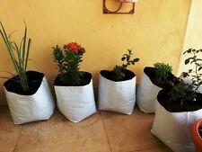 UV Stabilized Poly Grow Bag 20x20x40cm for Terrace Gardening 8 Qty