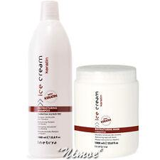 Restructuring KitPro Ice Cream 1 x Shampoo 1Lt + 1 x Keratin Mask 1Lt Inebrya ®