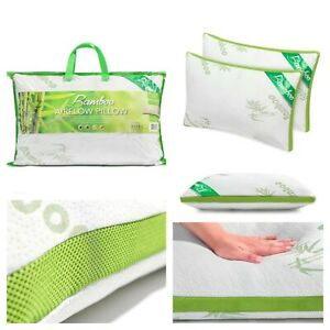 New Bamboo Airflow Pillow Memory Foam Pillow Anti Bacterial Allergenic Shredded