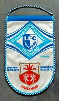 Orig. Wimpel 1.FC Magdeburg AFC Wrexham 1979 Europa Cup DDR pennant Wales FCM