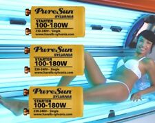 8 x NEW SYLVANIA SUNBED STARTERS 4 FLUORESCENT SUN TANNING LAMPS/TUBES 100/180W