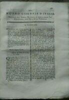 1789 RIVISTA NUOVO GIORNALE D'ITALIA: RADICCHIO TREVIGIANO E ZAFFERANO (CARTAMO)