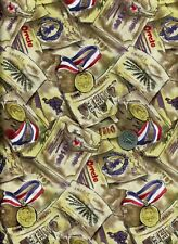 WINE LABELS VINEYARD FRENCH  COTTON FABRIC SOLD BY THE YARD