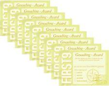 FIRST 9 Geocaching Award Cache Versteck Geocache first to find - 9 Urkunden