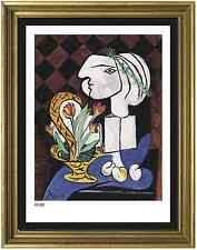 "Pablo Picasso Signed/Hand-Numbered Ltd Ed ""Still Life w Tulips"" Litho (unframed)"