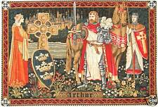 "KING ARTHUR BELGIAN TAPESTRY WALL HANGING 20""x29"" WITH BORDER"
