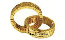 Gold Himber Ring Magic Trick Merge Close Up Street Parlor Linking Ellusionist Dd