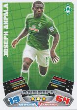 JOSEPH AKPALA # NIGERIA WERDER BREMEN CARD MATCH ATTAX BUNDESLIGA 2013