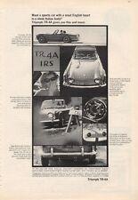 1966 Triumph TR-4A Itlaian Body PRINT AD