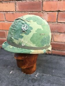 Vietnam Era US M1 Helmet & Liner