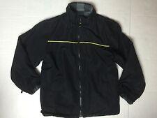 Boy's Size M 10/12 ARIZONA Reversible Lightweight Jacket Coat PLAID Fleece Black
