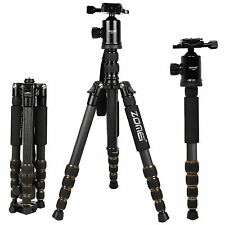 Z699C Professional Carbon Fiber Tripod Monopod&Ball Head Travel for DSLR Camera