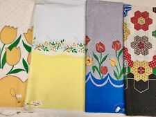 Great Vintage Fabric Bright Colors Borders Cotton Yardage