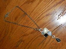 lia sophia Azure Necklace Blue Crystal silver