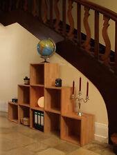 Flurregal (6 Regalwürfel), Buche Massivholz geölt, Pyramide 3-2-1, Raumteiler