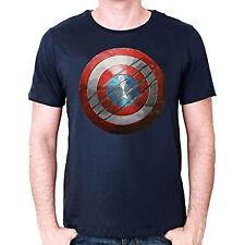 AVENGERS Civil war : T-shirt Captain America shield bouclier Navy taille XL