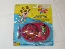 Looney Tunes Battery Powered Mini Fun Fan J Frog Janex with Belt Clip NEW