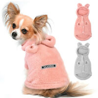 Cute Pet Pajamas Warm Fleece Puppy Cat Sleep Hoodie Clothes for Small Medium Dog