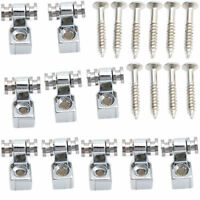 10X Chrome Roller String Trees Retainer Fender Electric Guitar Parts Accessories