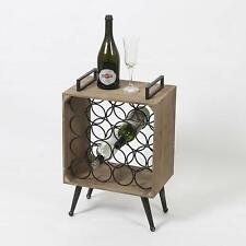 Modern Country Wood Box Standing Wine Holder with 16 Slots of Wine Bottles