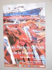 Affiche originale Jean Le Merdy Marine Concarneau Douarnenez Peintre de marine