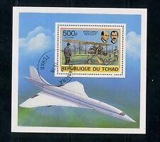 History of Aviation: 1978 Chad mini-sheet CV=$6.32