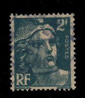 "FRANCE - 1945 2fr GANDON, VARIÉTÉ GROS CHIFFRE ""2"" & GROS ""RF"" OBLITÉRÉ - TB"