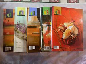 ART CULINAIRE INTERNATIONAL MAGAZINE IN GOOD TASTE 5x ISSUES 85 86 87 89 90 LOT