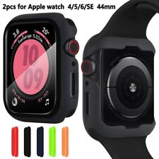 For Apple Watch Series 6 SE 5 4 3 2 1 Bumper Case + Full Cover Screen Protector