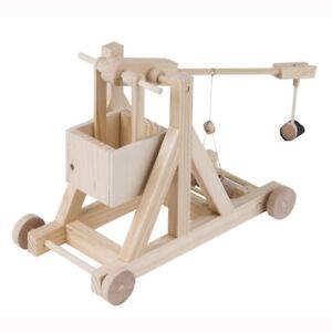 Timberkits Trebuchet Kit - Wooden Moving Model Self Assembly Construction Gift