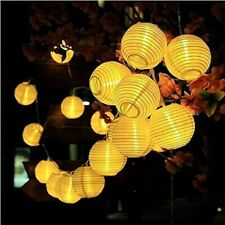 Solar Light LED Lantern Garland Decoration Warm White String Lights Outdoor