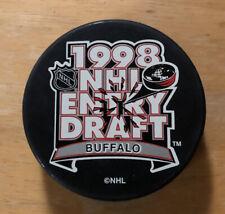 Buffalo Sabres Hockey Puck 1998 NHL Entry Draft Marine Midland Arena Lecavalier