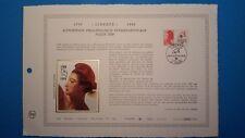 FRANCE DOCUMENT ARTISTIQUE YVERT 2461 LIBERTE BICENTENAIRE DIJON 1987  L535