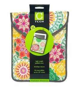 """STUDIO C Tech IPad Tablet Padded Sleve Pouch Fits 10"""" screen multiple designs"""