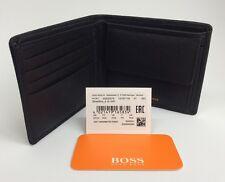"HUGO BOSS' 50332379' ""STREETLINE _ 4CC' Bi Fold noir en cuir Note coin wallet"